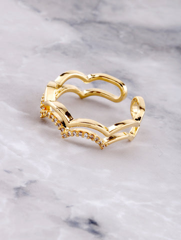 Scalloped Cloud Ring Anarchy Street Gold