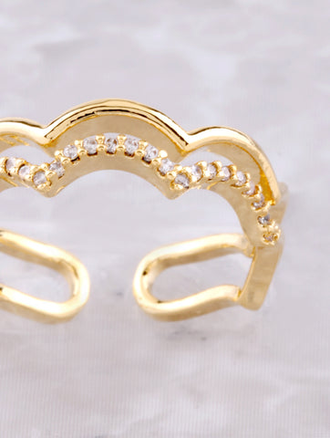 Scalloped Cloud Ring Anarchy Street Gold - Details