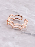 Scalloped Cloud Ring Anarchy Street Rosegold
