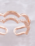 Scalloped Cloud Ring Anarchy Street Rosegold - Details
