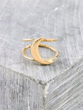 Quarter Moon Ring Anarchy Street Gold