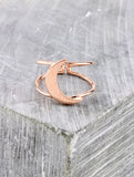 Quarter Moon Ring Anarchy Street Rosegold