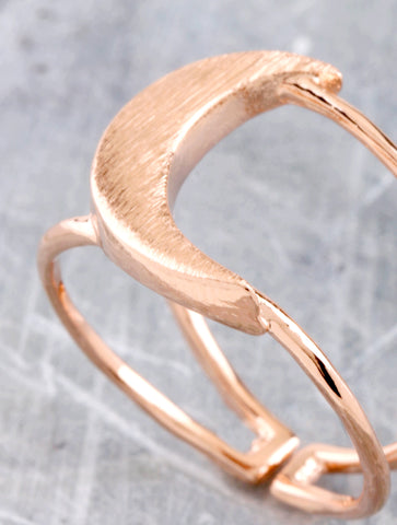 Quarter Moon Ring Anarchy Street Rosegold - Details