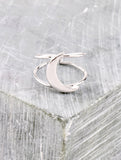 Quarter Moon Ring Anarchy Street Silver