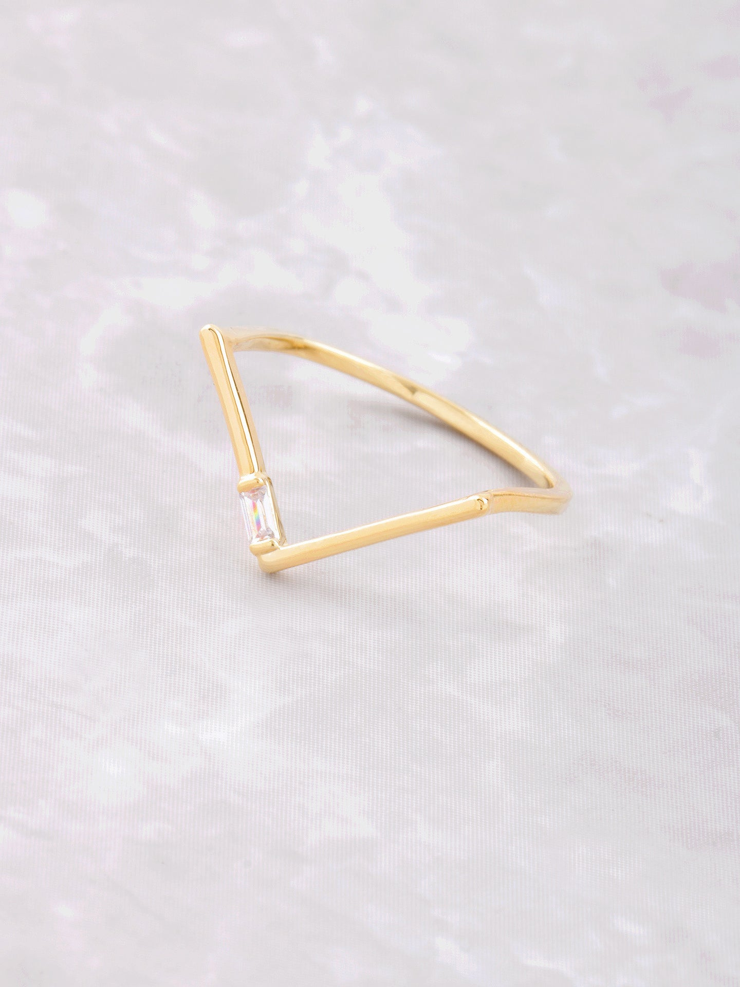 Baguette Point Ring Anarchy Street Gold