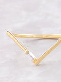 Baguette Point Ring Anarchy Street Gold - Details