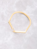 Baguette Point Ring Anarchy Street Gold - Details - 1