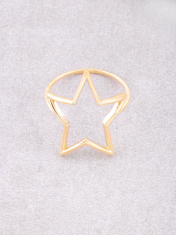 Open Star Ring Anarchy Street Gold