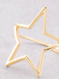 Open Star Ring Anarchy Street Gold - Details
