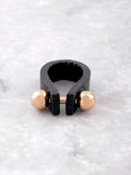 Leather Barbell Ring Anarchy Street Black - Details - 1