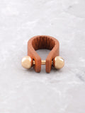 Leather Barbell Ring Anarchy Street Brown - Details - 1
