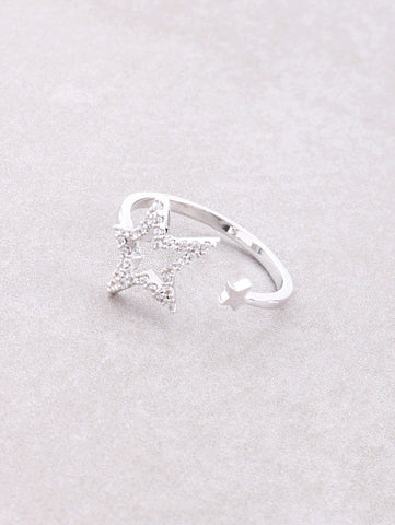 Open Star Ring Anarchy Street Silver