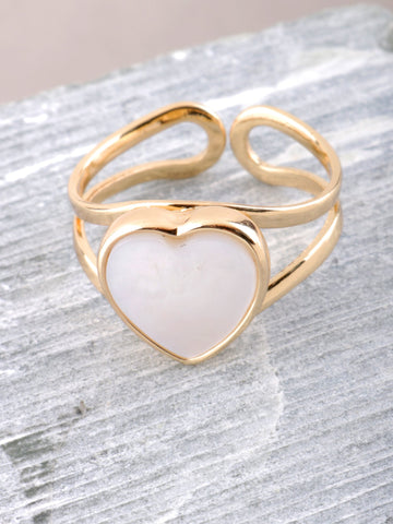 Glazed Heart Ring Anarchy Street Gold