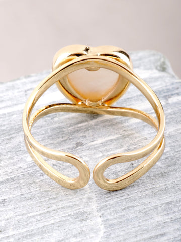 Glazed Heart Ring Anarchy Street Gold - Details
