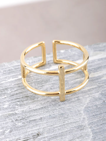 Column Ring Anarchy Street Gold