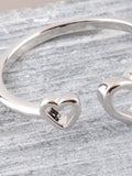 Hollow Heart Ring Anarchy Street Silver - Details