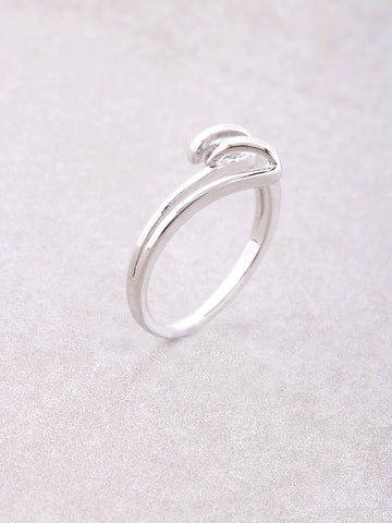 Curled Ring Anarchy Street Silver