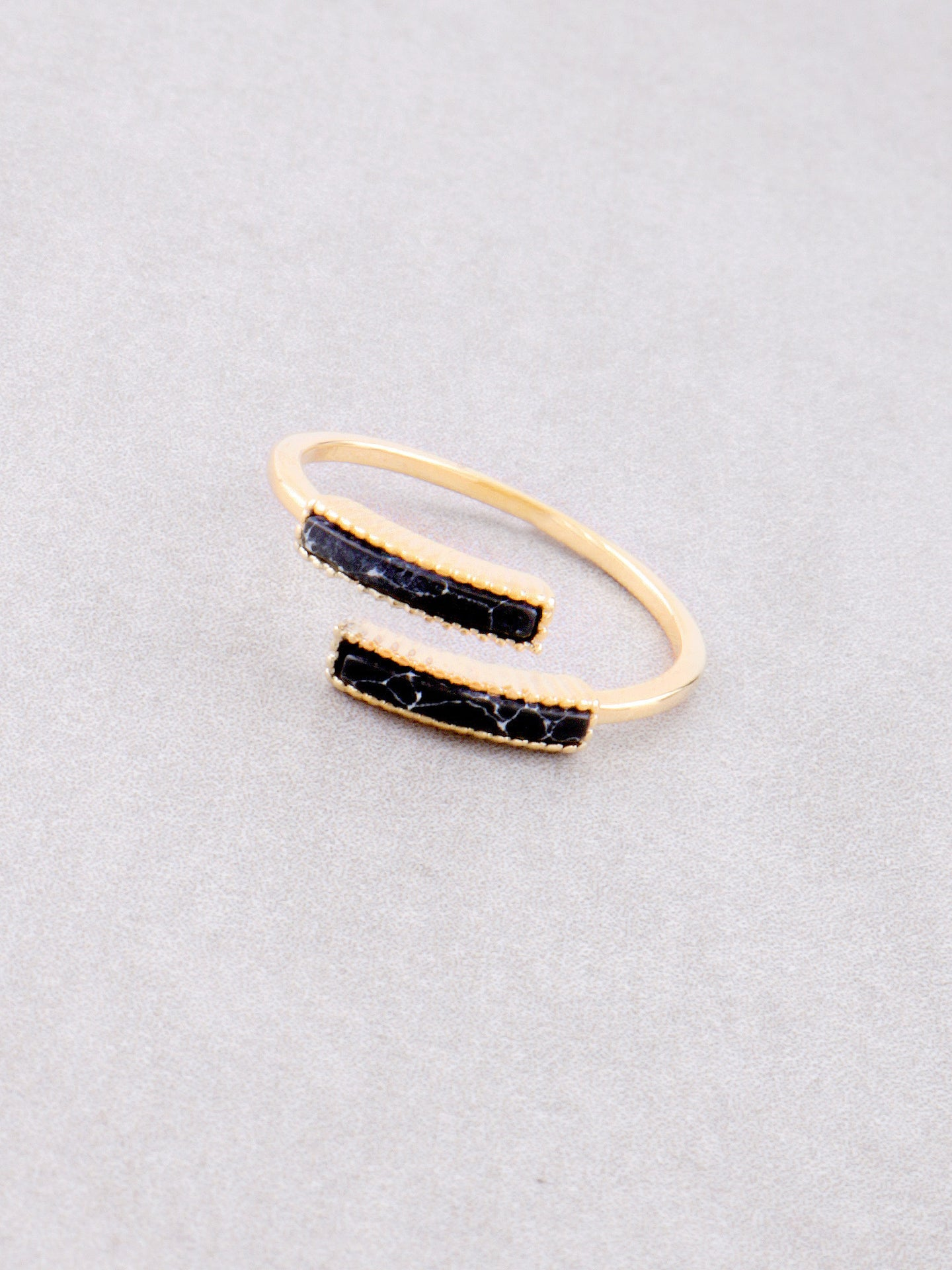 Double Marble Ring Anarchy Street Black