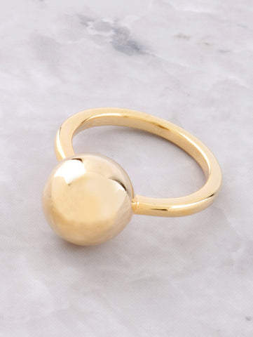 Metal Ball Ring Anarchy Street Gold - Details