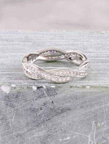Woven Ring Anarchy Street Silver