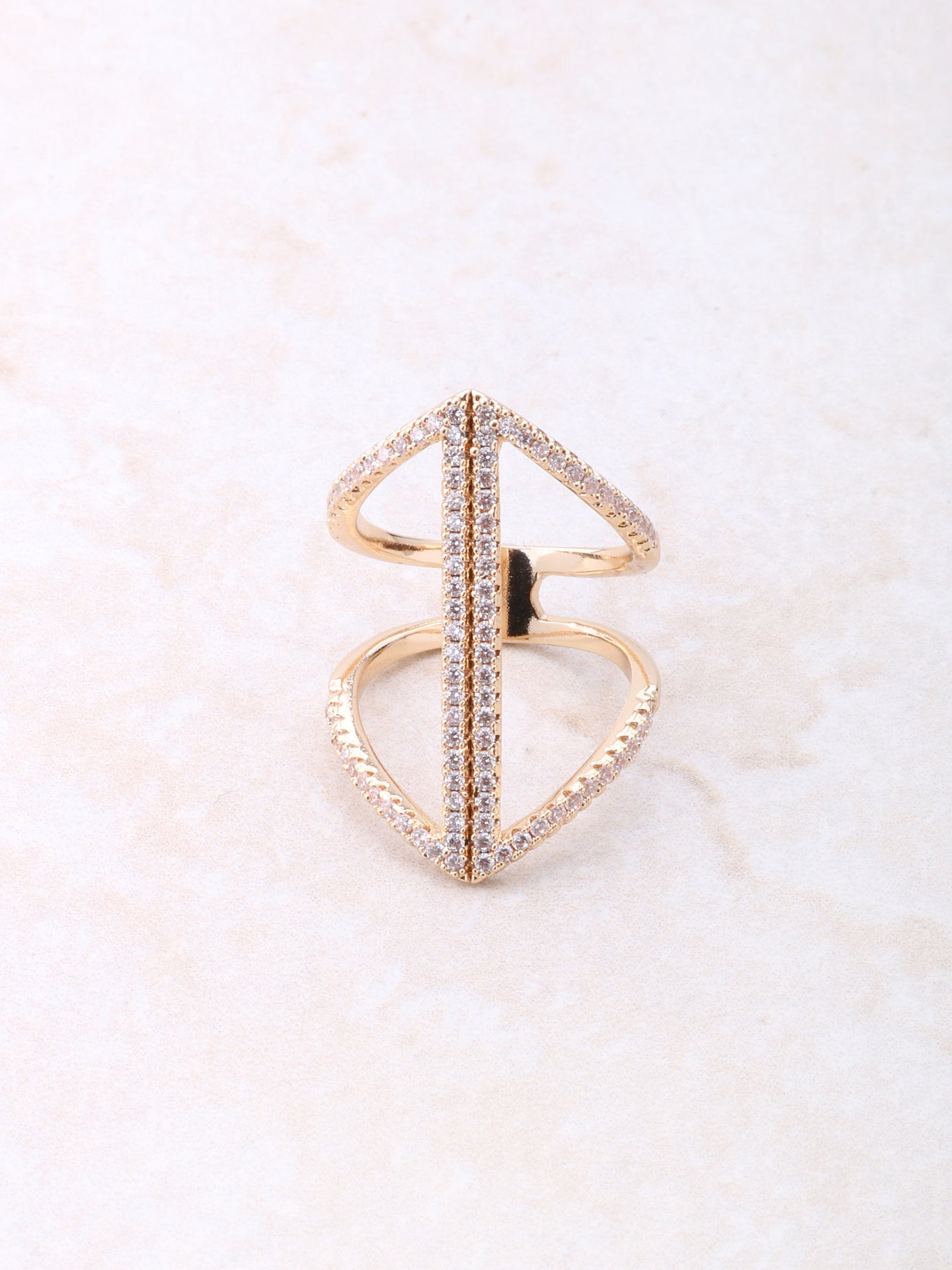 Seam Pave Ring Anarchy Street Gold
