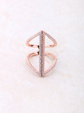 Seam Pave Ring Anarchy Street Rosegold
