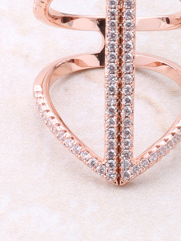 Seam Pave Ring Anarchy Street Rosegold - Details
