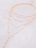 Beaded Chain Layered Choker Anarchy Street Gold