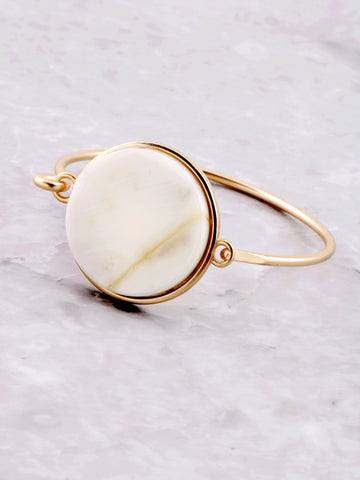 Pearl Glazed Latch Bracelet Anarchy Street Gold