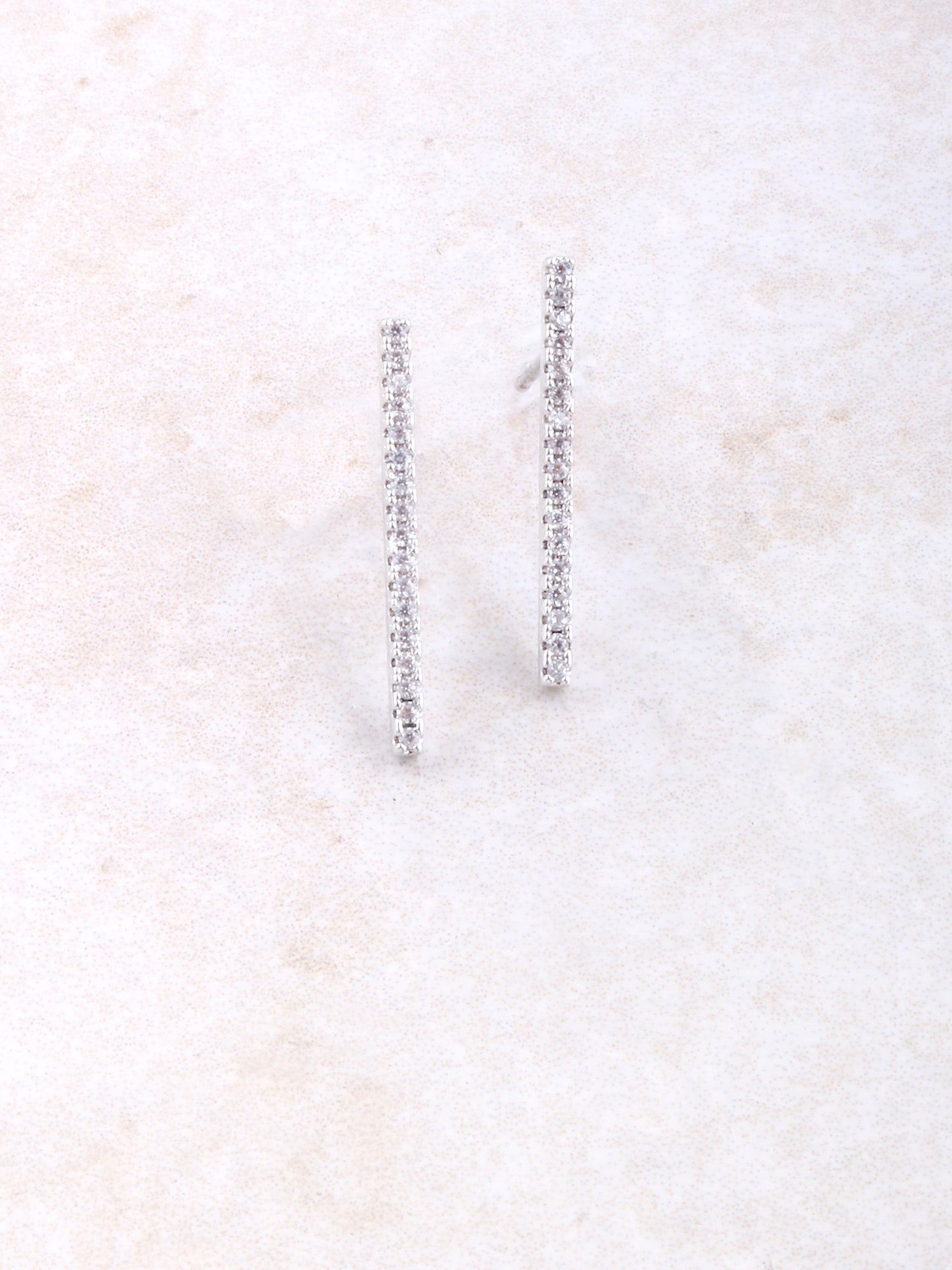 White Gold Dipped Drop Earring