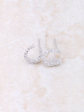 Horse Shoe Pave Earring Anarchy Street Whitegold