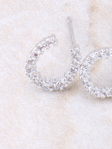 Horse Shoe Pave Earring Anarchy Street Whitegold - Details