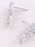 White Gold 4 Flowers Line Earring Anarchy Street Whitegold - Details