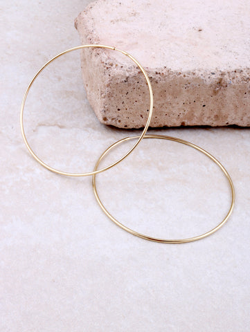 14K Gold Dipped Circle Earring Anarchy Street Gold