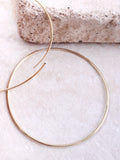 14K Gold Dipped Circle Earring Anarchy Street Gold - Details