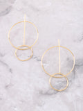 14K Intercepted Earring Anarchy Street Gold