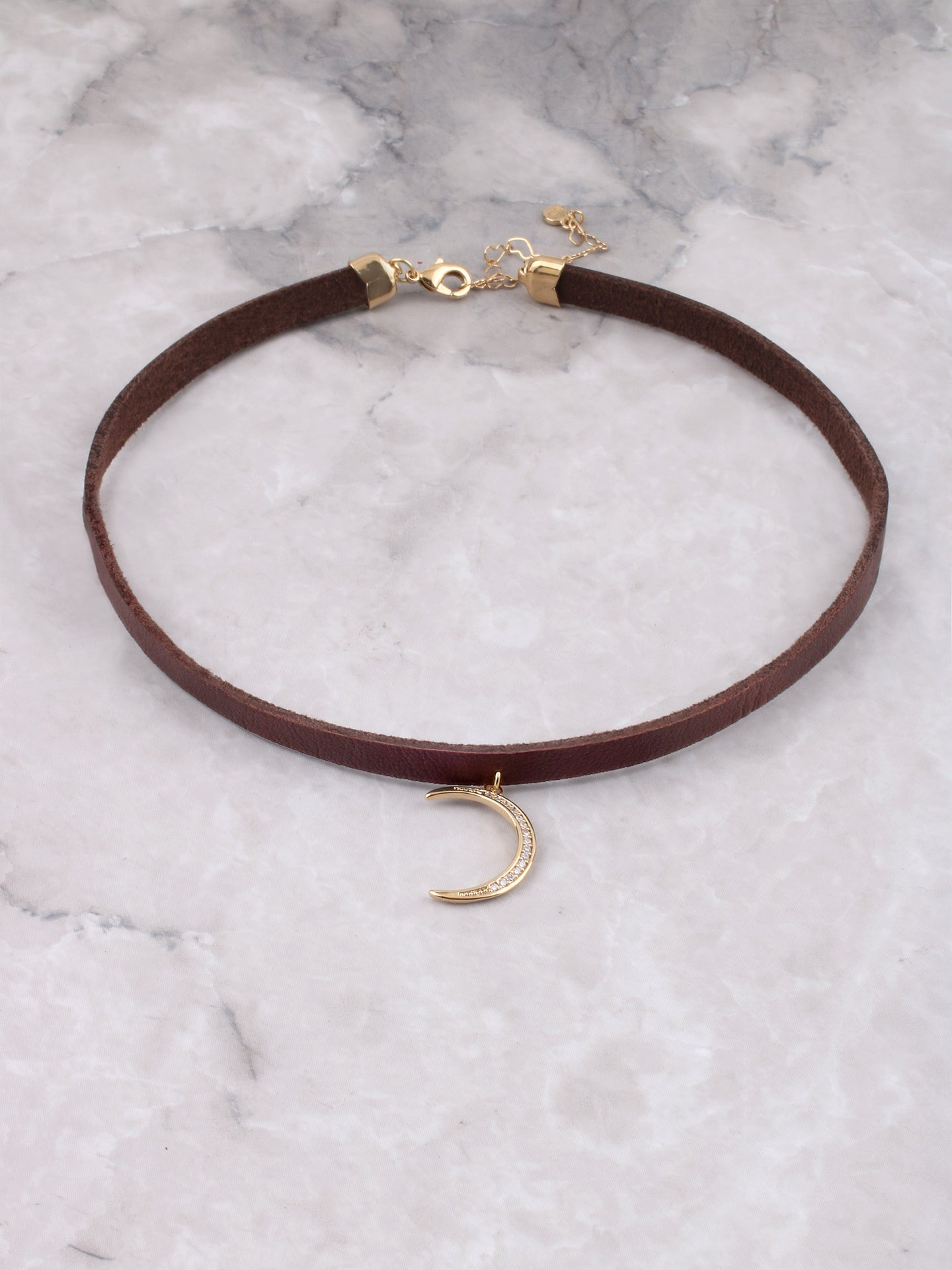 Crescent Moon Choker Anarchy Street Gold