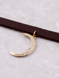 Crescent Moon Choker Anarchy Street Gold - Details