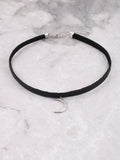 Crescent Moon Choker Anarchy Street Whitegold