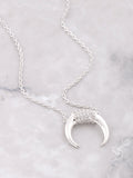14K Pave Horn Necklace Anarchy Street Silver