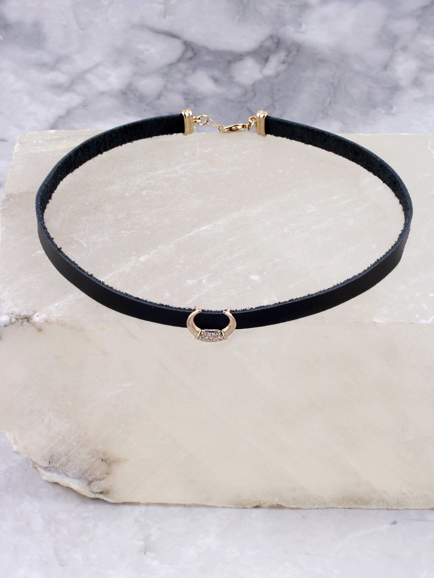Pave Horn Choker Anarchy Street Gold