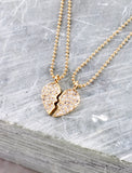 Half Heart Friendship Necklace Anarchy Street Gold