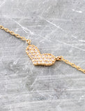 Pave Heart Necklace Anarchy Street Gold - Details