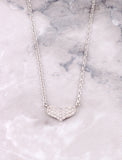 Pave Heart Necklace Anarchy Street Whitegold