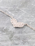 Pave Heart Necklace Anarchy Street Whitegold - Details