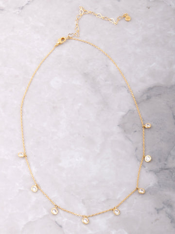 14K Dotted Dainty Choker Anarchy Street Gold