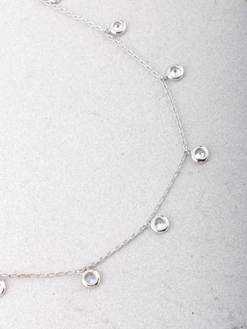 14K Dotted Dainty Choker Anarchy Street Silver - Details