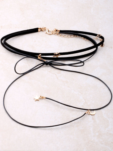 Moon And Stars Wrap Choker Anarchy Street Gold