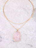 Gemstone Wrap Necklace Anarchy Street Pink
