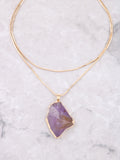 Gemstone Wrap Necklace Anarchy Street Purple